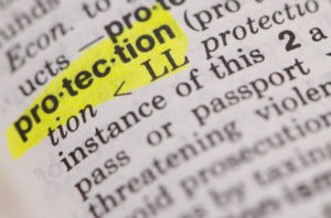 Dictionary definition of protection