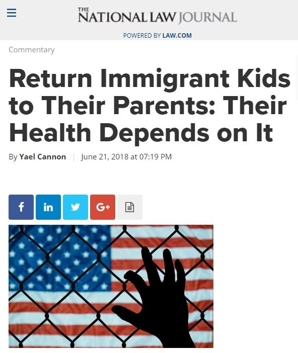 National Law Journal article Immigrant kids