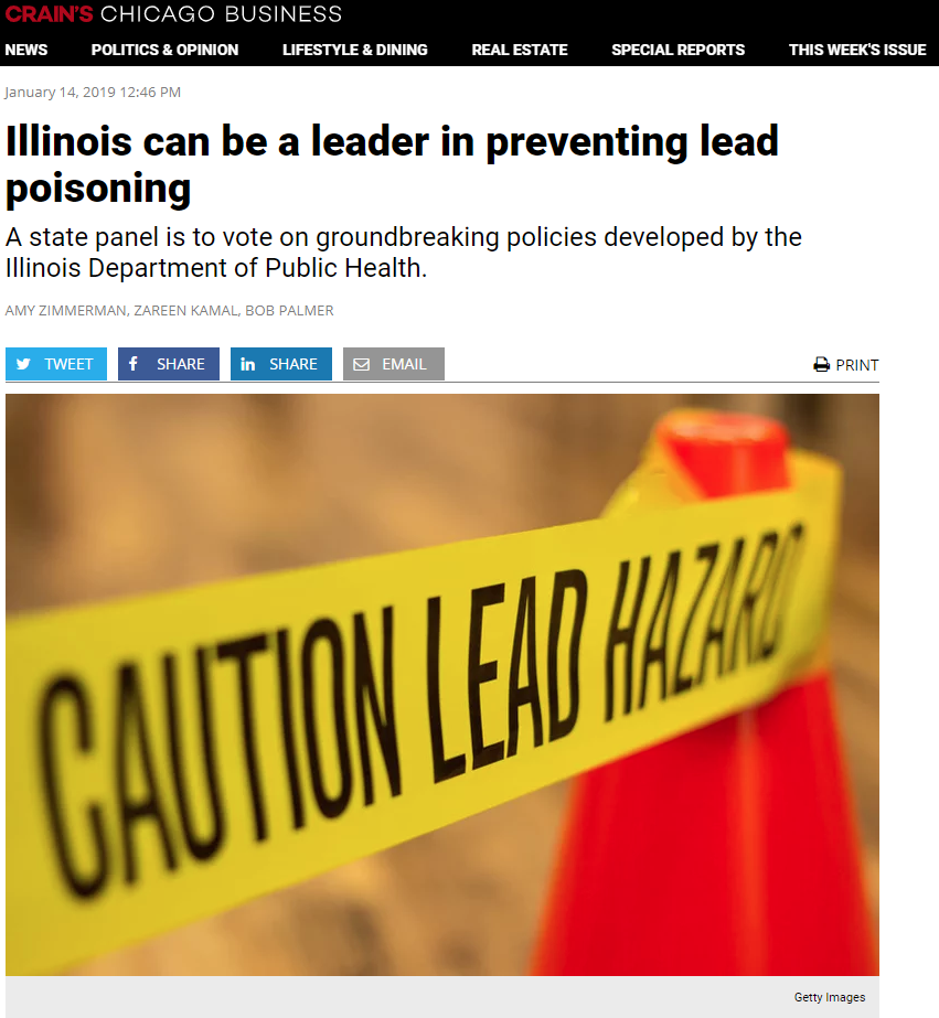 Illinois can be a leader in preventing lead poisoning - Crain's