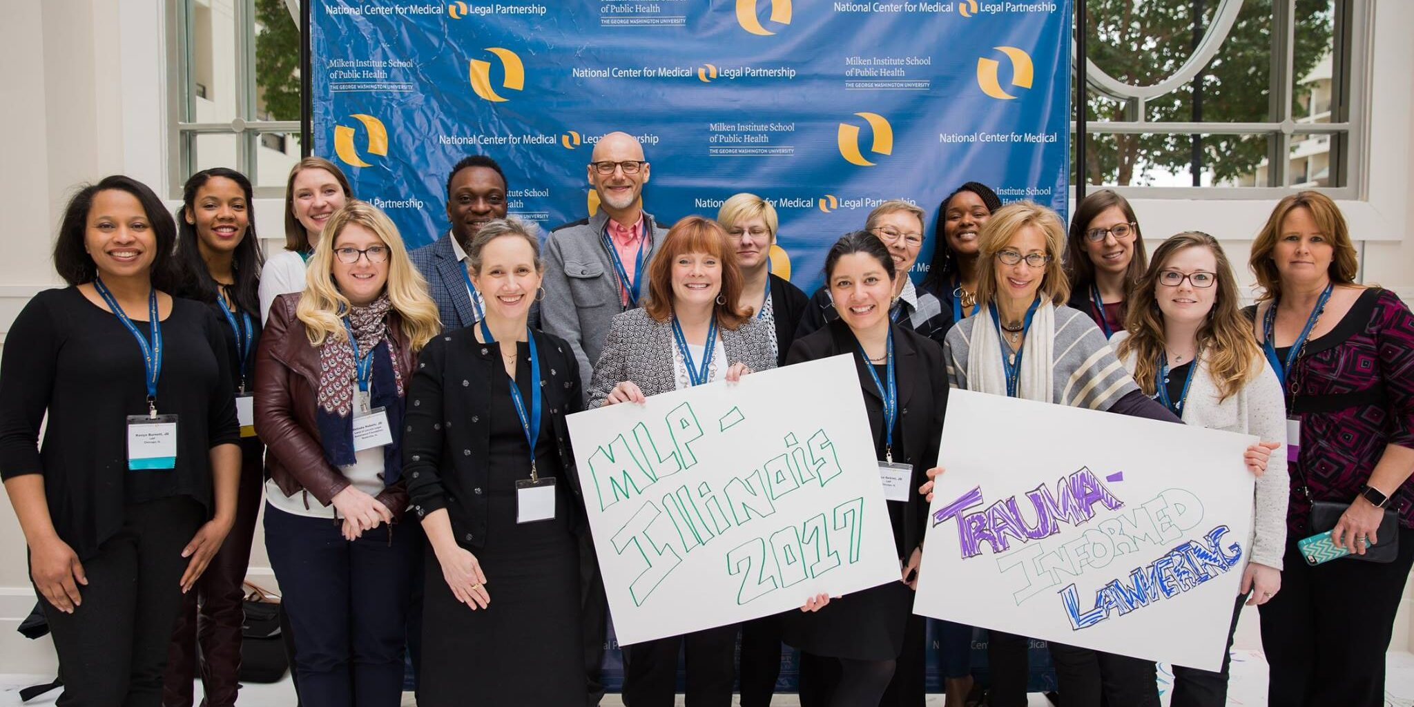 Legal Council staff members attend the National Center for Medical-Legal Partnerships Conference in April 2017.